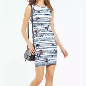 BCBGMaxAzria Dresses - BCBG MAXAZRIA | Jose Jacquard tropical camel dress